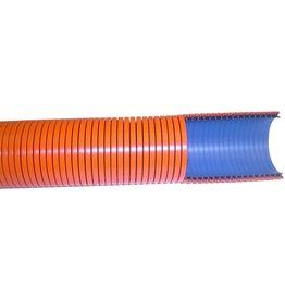"CleanHub Hose, Vac Flexible 1.5"" X 50' Plain Cut - Orange"