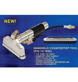 Westpak USA HAND HELD COUNTERTOP TOOL, WESTPAK, W/SQUEEGEE & BRUSH ATTACHMENTS
