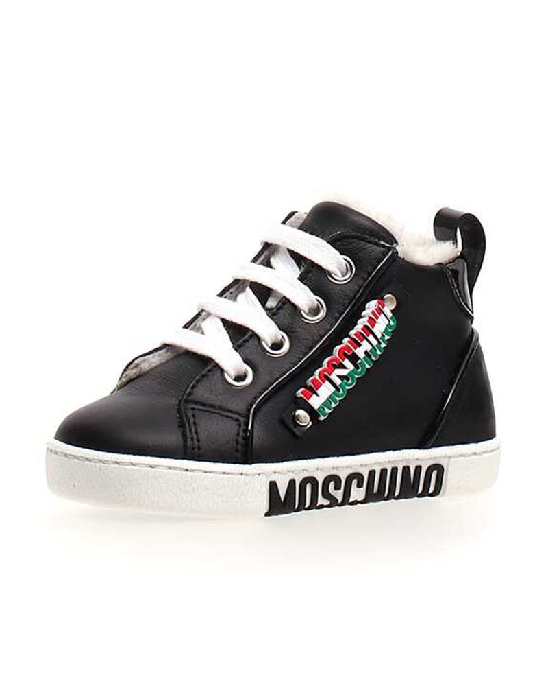 8c1a0fec6c68 MOSCHINO MOSCHINO TODDLER BOYS SNEAKERS - Designer Kids Wear