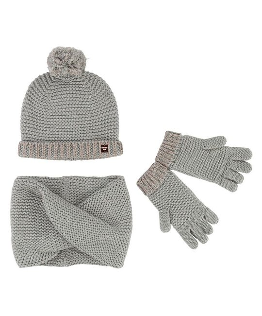 CARREMENT BEAU CARREMENT BEAU GIRLS HAT & SCARF SET