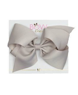 BOW FRIENDS TAUPE HAIR BOW