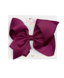 BOW FRIENDS BORDEAUX HAIR BOW