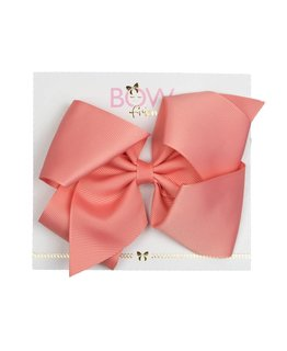 BOW FRIENDS PEACH HAIR BOW