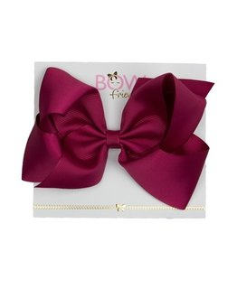 BOW FRIENDS RASBERRY HAIR BOW