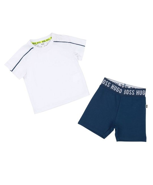 BOSS BOSS BABY BOYS TEE & SHORT SET