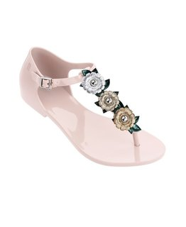 MINI MELISSA HONEY CHROME SANDALS