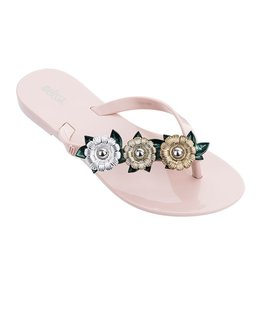 MINI MELISSA GARDEN CHROME FLIP FLOPS