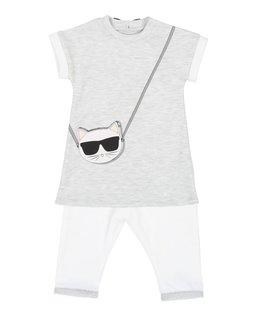 KARL LAGERFELD KIDS BABY GIRLS DRESS & LEGGING SET