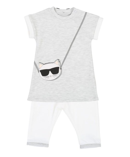 KARL LAGERFELD KIDS KARL LAGERFELD KIDS BABY GIRLS DRESS & LEGGING SET