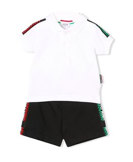 MOSCHINO BABY BOYS POLO & SHORT SET
