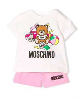 MOSCHINO BABY GIRLS TOP & SHORT SET