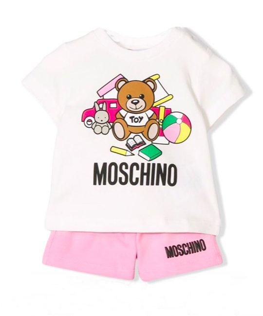 MOSCHINO MOSCHINO BABY GIRLS TOP & SHORT SET