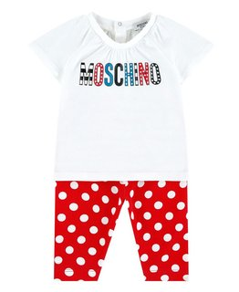 MOSCHINO BABY GIRLS TOP & LEGGING SET