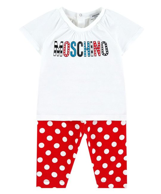 MOSCHINO MOSCHINO BABY GIRLS TOP & LEGGING SET