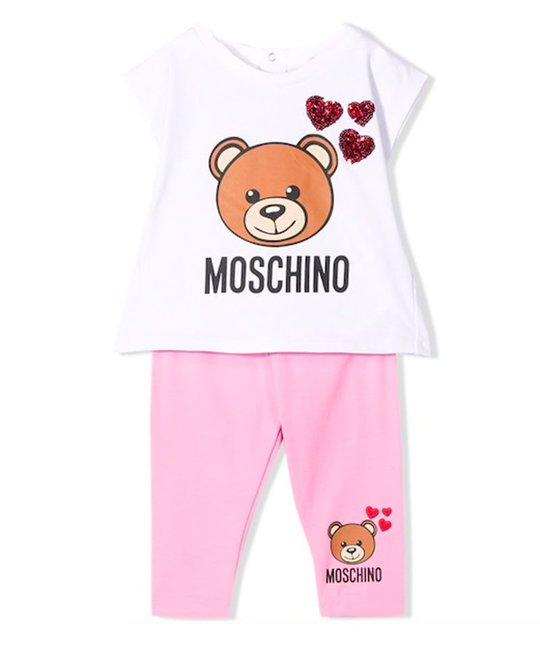 MOSCHINO MOSCHINO BABY GIRLS TOP & LEGGING SET