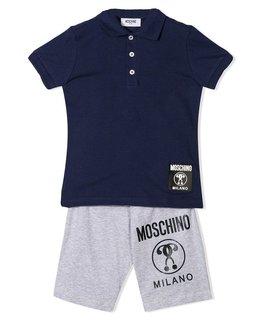 MOSCHINO BOYS POLO & SHORT SET