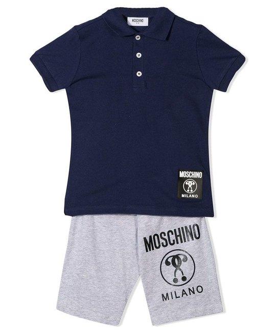 MOSCHINO MOSCHINO BOYS POLO & SHORT SET