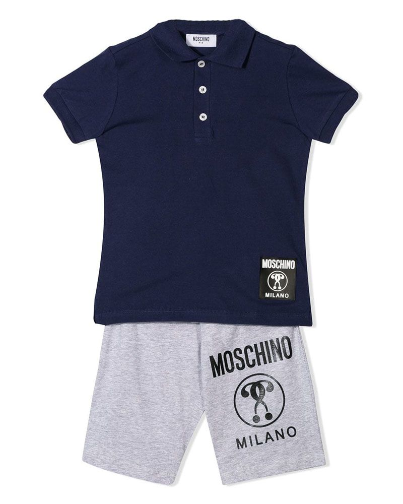best service a63fe 1d79d MOSCHINO MOSCHINO BOYS POLO & SHORT SET