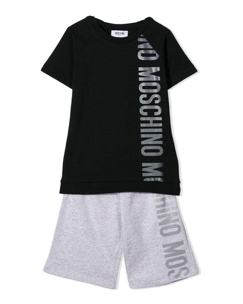 MOSCHINO MOSCHINO BOYS TOP   SHORT SET - Designer Kids Wear a2d9d62ce