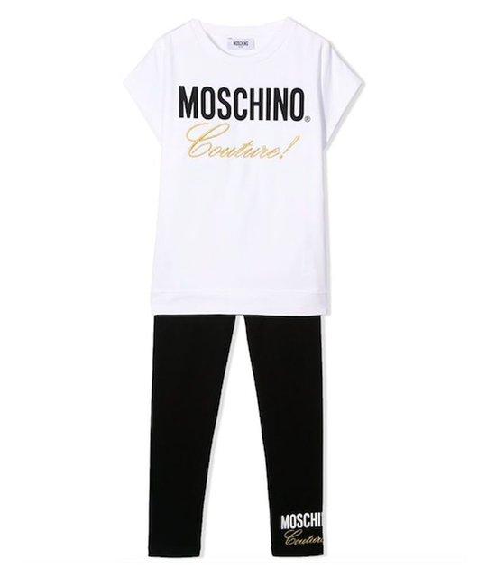 MOSCHINO MOSCHINO GIRLS TOP & LEGGING SET