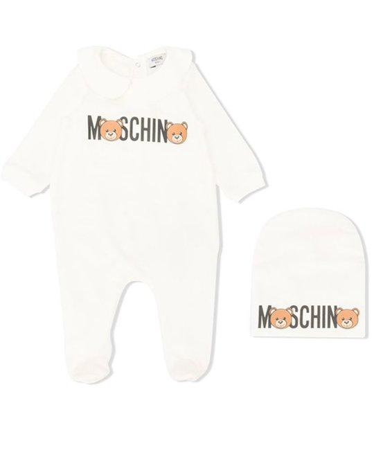 MOSCHINO MOSCHINO BABY UNISEX ONESIE & HAT SET
