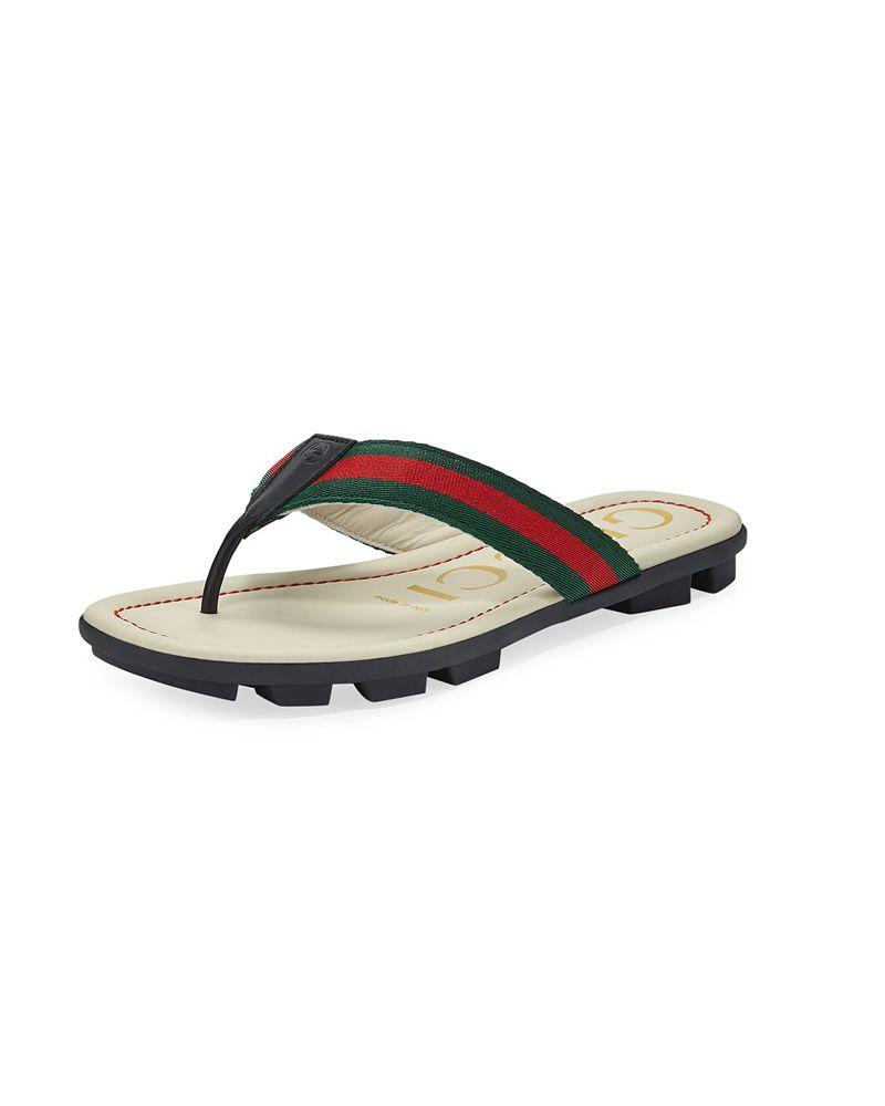 655623131eba GUCCI GUCCI UNISEX TITAN BEACH FLIP FLOP - Designer Kids Wear