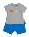 MOSCHINO MOSCHINO BABY BOYS TOP & SHORT SET
