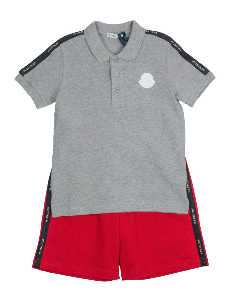 9cab3d3f9dd0 MONCLER MONCLER BOYS POLO   SHORT SET