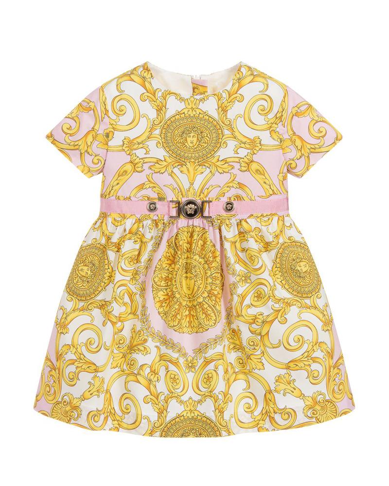 365c719c1 YOUNG VERSACE YOUNG VERSACE BABY GIRLS DRESS - Designer Kids Wear