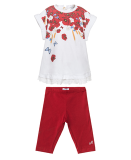 MONNALISA BABY GIRLS TOP & LEGGING SET