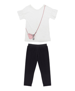 EMPORIO ARMANI GIRLS TEE & LEGGING SET