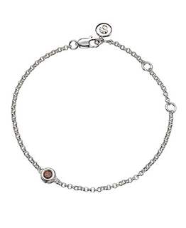 MOLLY BROWN LONDON JANUARY BIRTHSTONE BRACELET-GARNET