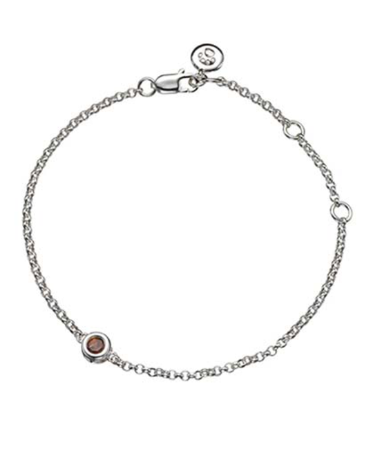 MOLLY BROWN LONDON MOLLY BROWN LONDON JANUARY BIRTHSTONE BRACELET-GARNET