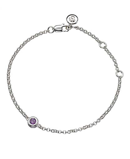 MOLLY BROWN LONDON FEBRUARY BIRTHSTONE BRACELET-AMETHYST