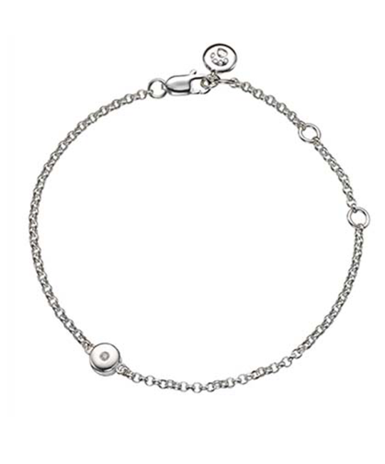 MOLLY BROWN LONDON MOLLY BROWN LONDON APRIL BIRTHSTONE BRACELET-DIAMOND