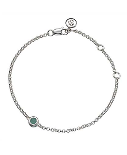 MOLLY BROWN LONDON MAY BIRTHSTONE BRACELET-EMERALD
