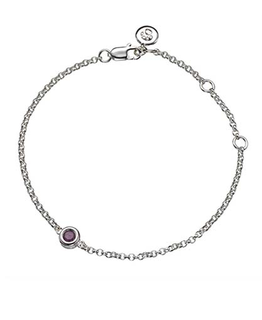 MOLLY BROWN LONDON JULY BIRTHSTONE BRACELET-RUBY