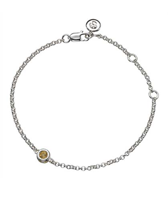 MOLLY BROWN LONDON MOLLY BROWN LONDON NOVEMBER BIRTHSTONE BRACELET-CITRINE