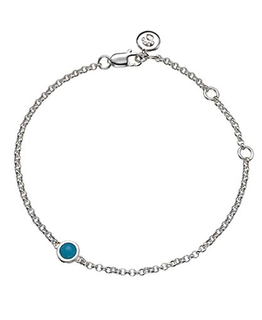 MOLLY BROWN LONDON DECEMBER BIRTHSTONE BRACELET-TURQUOISE
