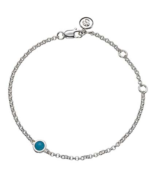 MOLLY BROWN LONDON MOLLY BROWN LONDON DECEMBER BIRTHSTONE BRACELET-TURQUOISE