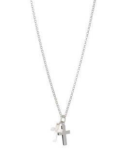 MOLLY BROWN LONDON MOTHER OF PEARL CROSS NECKLACE