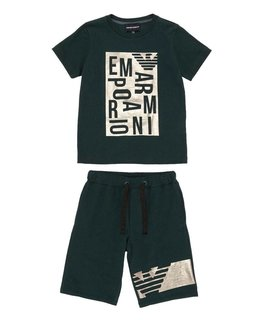 EMPORIO ARMANI BOYS TEE & SHORT SET