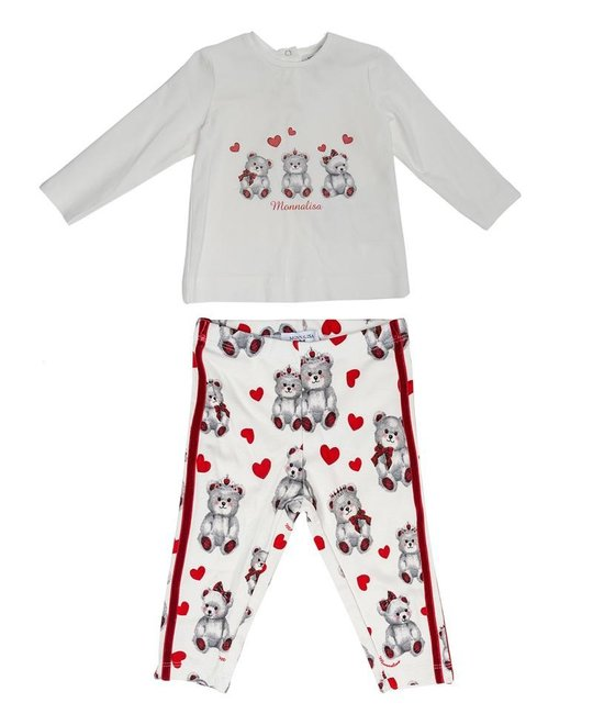MONNALISA MONNALISA BABY GIRLS TOP & LEGGING SET
