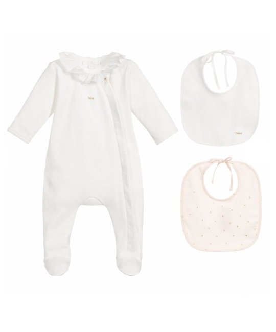CHLOÉ CHLOÉ BABY GIRLS ONESIE SET