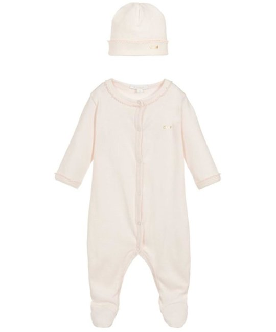CHLOÉ CHLOÉ BABY GIRLS ONESIE & HAT SET