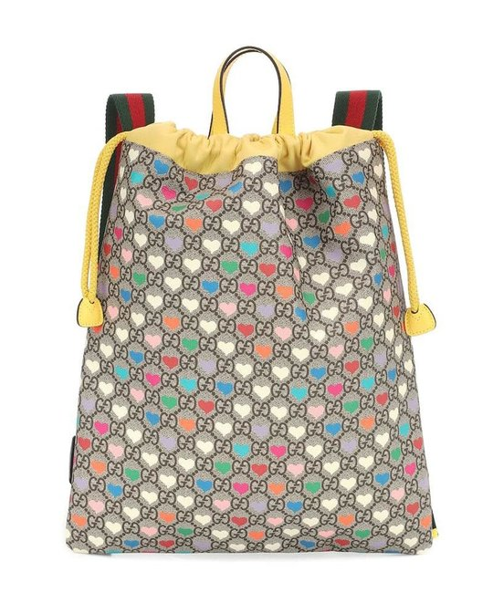 GUCCI GUCCI HEART PRINT BOOK BAG