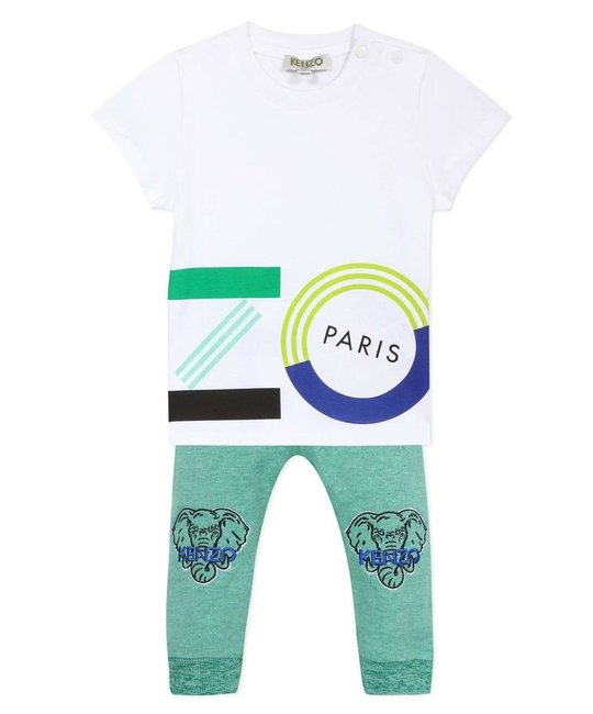 KENZO KIDS KENZO KIDS BABY BOYS TOP & PANT SET