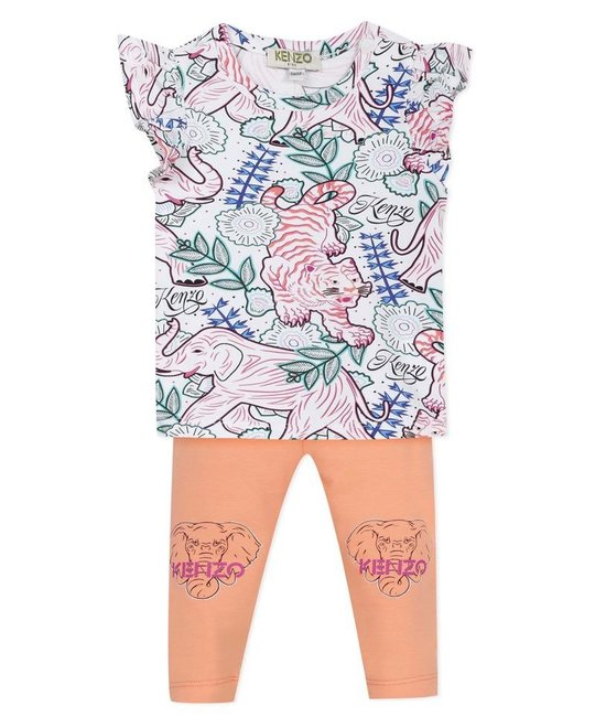 KENZO KIDS KENZO KIDS BABY GIRLS TOP & LEGGING SET