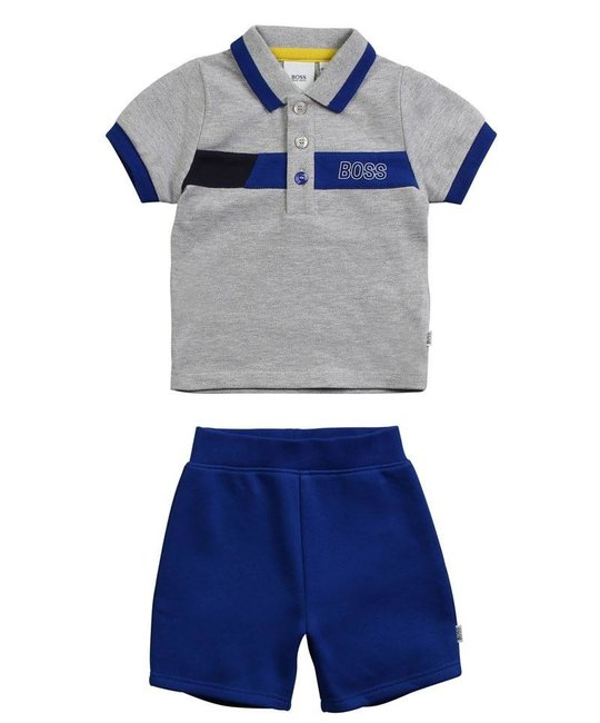 BOSS BOSS BABY BOYS POLO SET