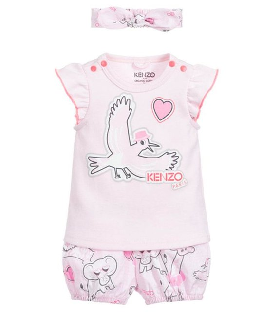 KENZO KIDS KENZO KIDS BABY GIRLS TEE & SHORT SET